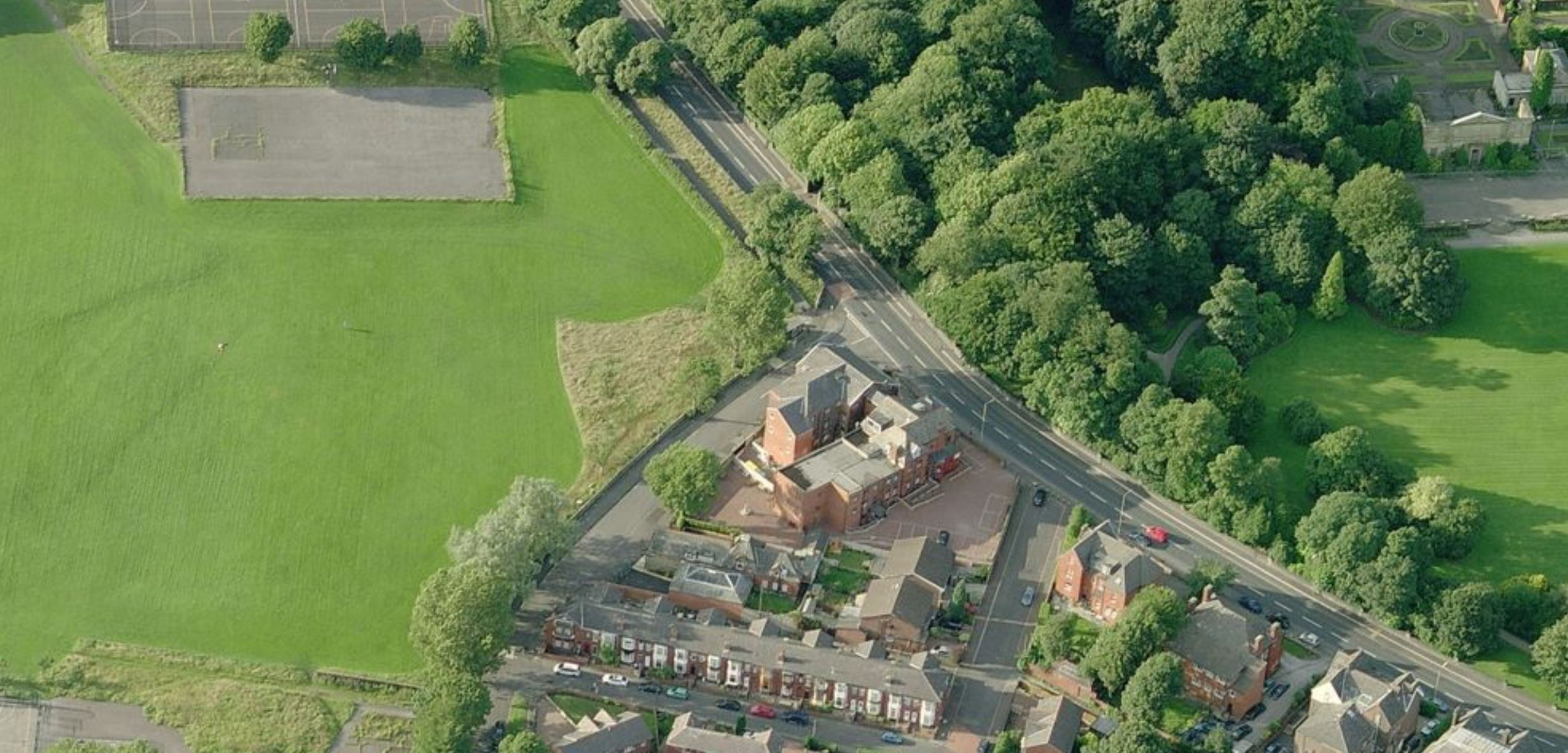 aerial-view-change-of-use-from-nursing-home-care-home-C1-to-C3-23-flats